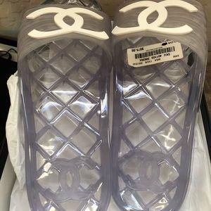 Chanel PVC slides
